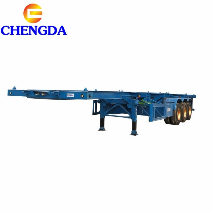 Africa Popular Low Price 20ft 40ft Container Chassisskeleton Semi Trailer Price