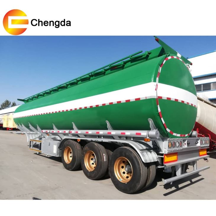 3 Axles 40kl Fuel Tanker Trailer With 8 Compartments