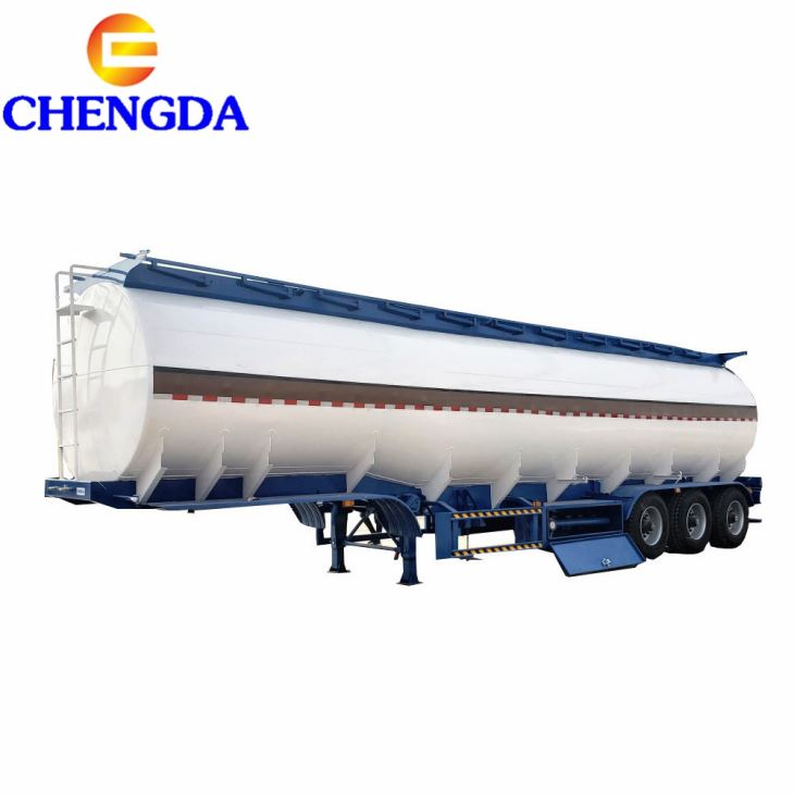 Carbon Steel 50cbm Oil Tank Fuel Tanker Semi Trailer