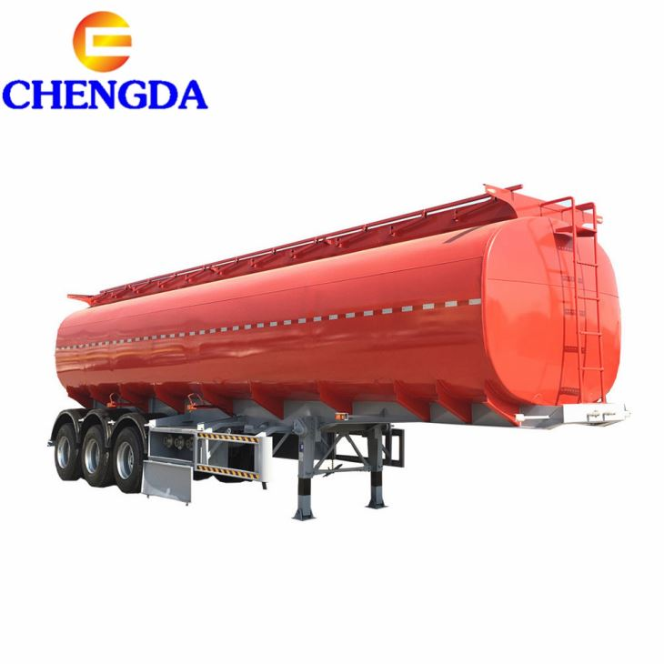 Chengda 42, 000 Fuel Tanker Trailer With 3 Inch Manhole Cover