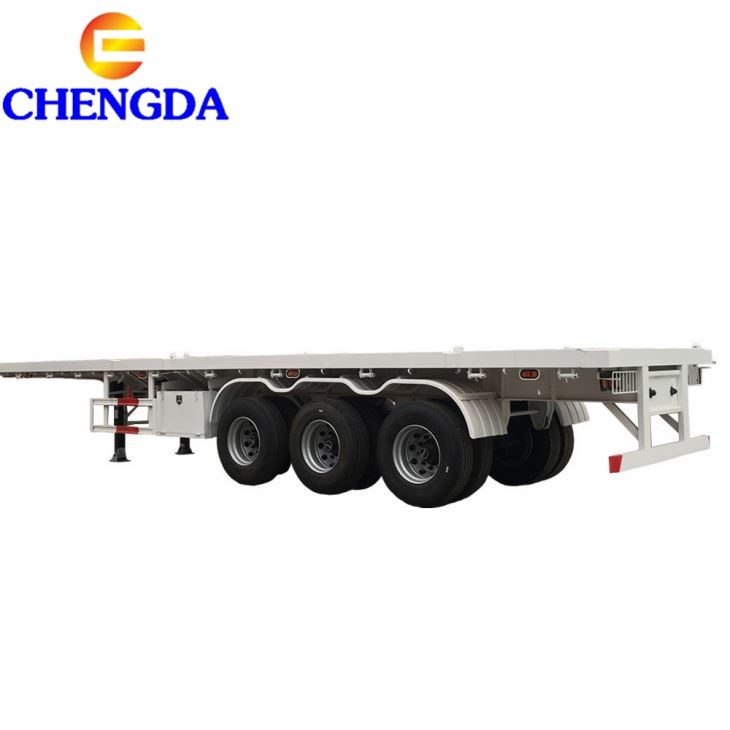 China 40ft Flatbed Container Trailer For Sale