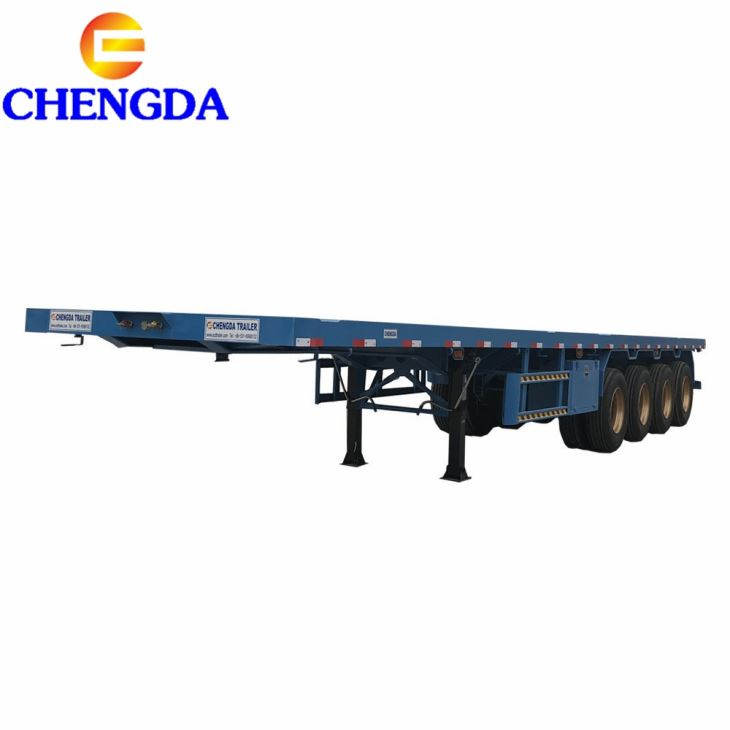 China Manufacturer Container/Utility/Cargo Flat Bed Semi Trailer