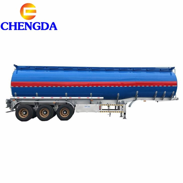 China Shandong Best Quality 3 Axles 3 Compartments Fuel Tanker Trailer