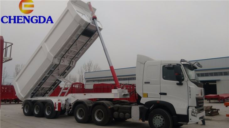 Factory 3 Axle Tipping Dumper Truck Tipper Trailer Dump Semi Trailer