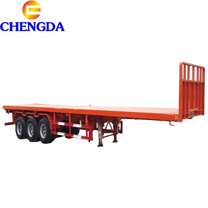 Fuwa Axles 20/40/45feet Utility Extendable Flat Bed Semi Trailer