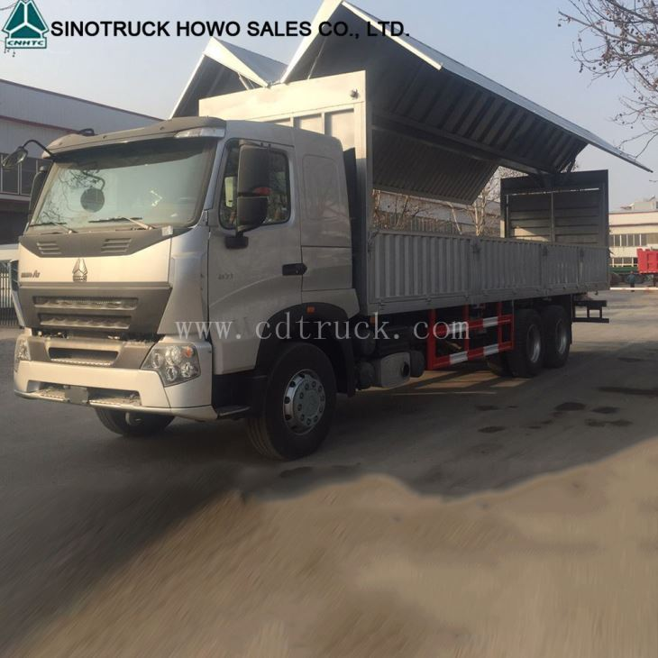 Howo A7 6x4 30ton Wing Van Truck For Philippines