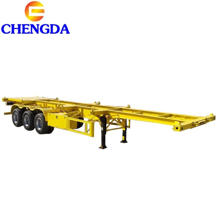 Professional Supply 3 Axles 50ton Normal Skeleton Semi Trailer