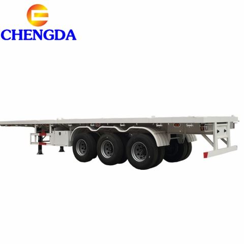2/3 Axle Flatbed Semi Trailer/Container Trailer