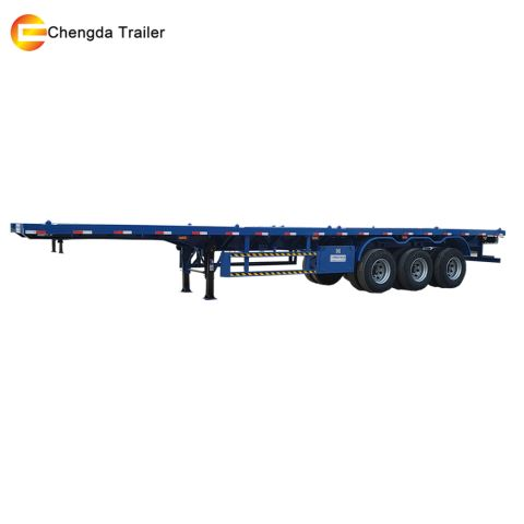 3 Axle 20ft 40ft Flatbed Trailer Container Chasiss For South America