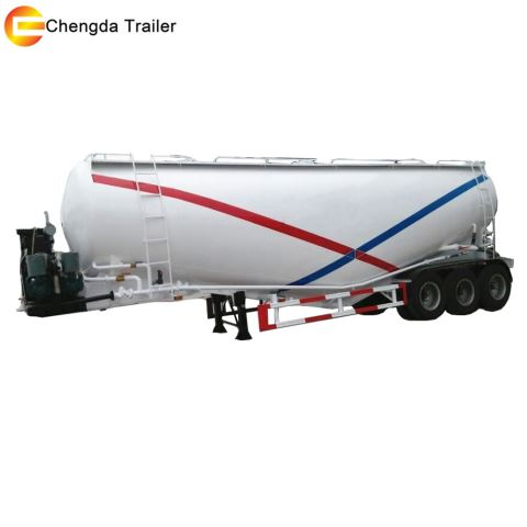 3 Axle 45 Cubic Cement Tank Trailer In South America