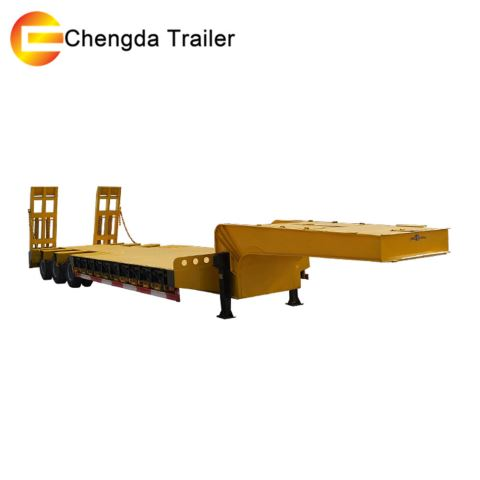 3 Axle 60 Tons Low Bed Trailer Low Bed Semi Trailer
