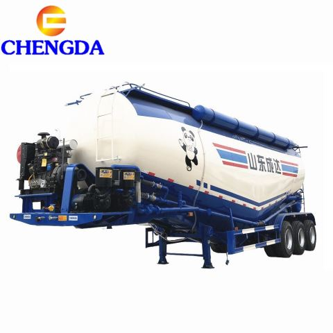 Good Quality 3 Axles 30 50 Tons Flour Cement Powder Transport Tanker Body Bulk Cement Trailer