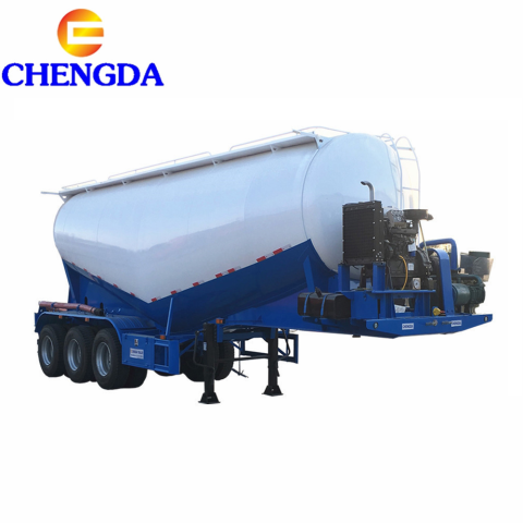 3 Axles 45M3 Bulk Cement Truck Powder Semi Trailer Bulk Cement Trailer