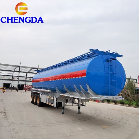 3 Axles And 4 Axles 42000 45000 Liters Aluminum Fuel Tanker Tank Semi Trailer