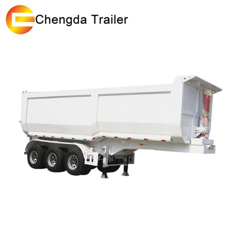3 Axles End Dump Semi Trailer Truck Capacity