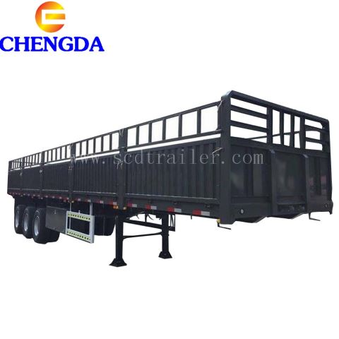 3 Axles Side Wall Flatbed Cargo Trailer