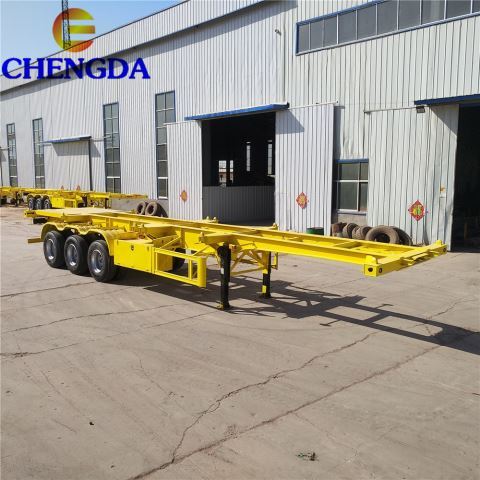 3 Axles 40ft and 45 Feet Skeletal Container Truck Trailer Chassis
