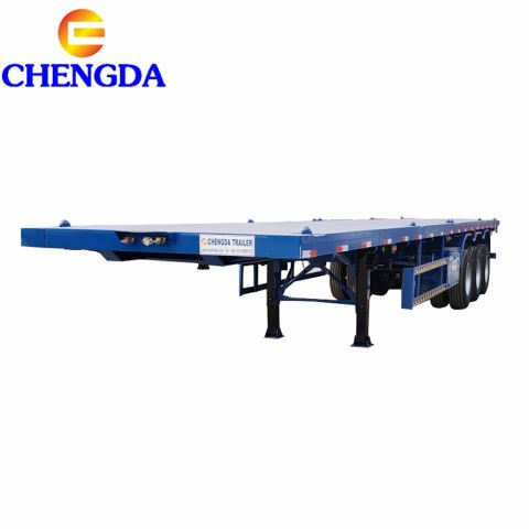 40 Ft 3 Axles Flatbed Container Semi Trailer Price