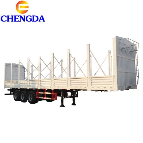60 Tons 3 Axles Cargo Side Wall Semi Trailer