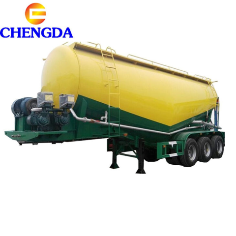 70ton 3axles Banana Type Bulk Cement Carrier Bulk Cement Silo Tanker Truck Trailer To Oman