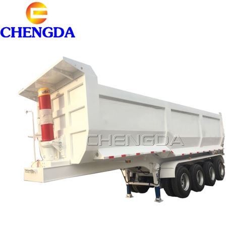 Aggregate 45cbm 80 Tons U-Shape Tipper Semi Trailer