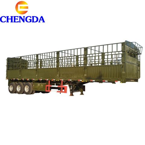 China Low Price Semi Trailer New Design Agricultural Use Stake Fence Semi Trailer
