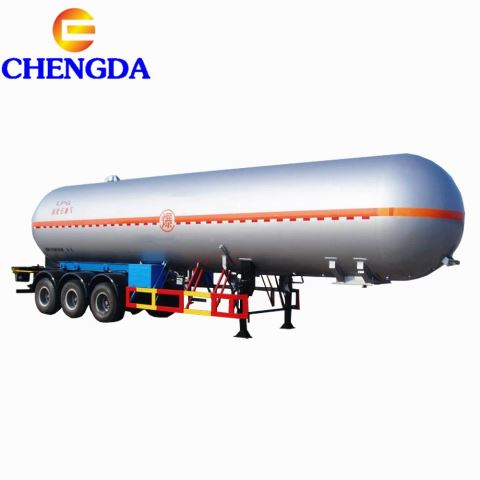 China LPG Gas Tank Truck With Mobile Dispenser Counter 48000 Liter