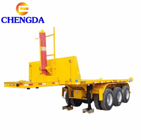 China Manufacturing 3 Axle 20ft 40ft Side Lifter Container Tipper Trailer