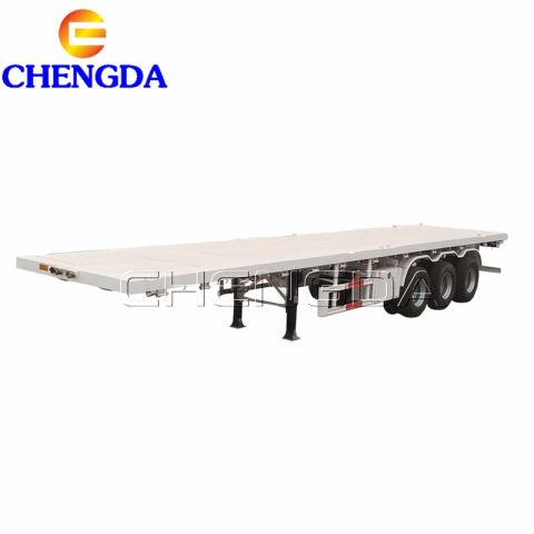 Heavy Duty 40FT Plate Form Cargo Truck Semi Trailer