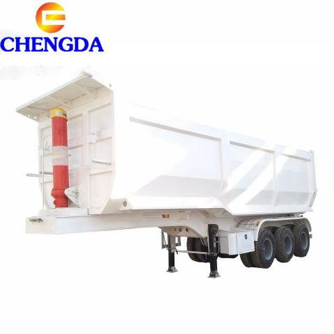 High Quality 8 To 10m Rear-Turn Type Dump Trailer