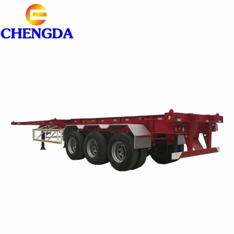 Hot Sale Container Transportation Tri-axle 40tons 40ft 20ft Container Skeleton Trailer