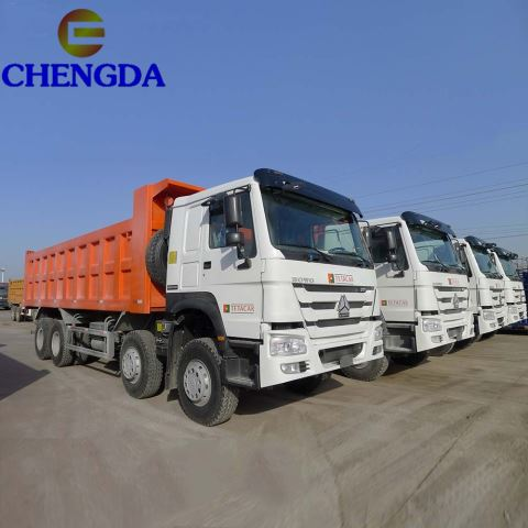 Howo T7H 12wheelers Euro 4 Tipper Truck For Philippines