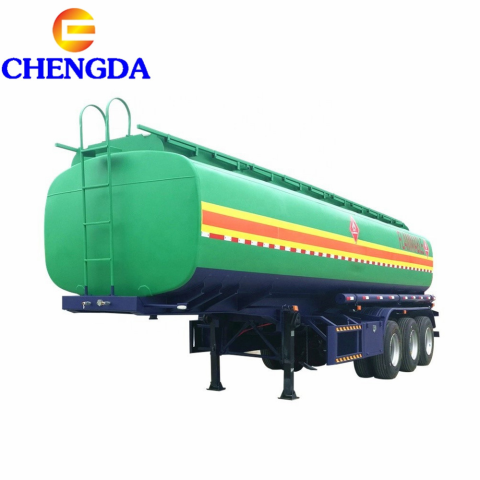 3 Axles 45000L 3 Compartments Fuel Tank Truck Semi Trailer