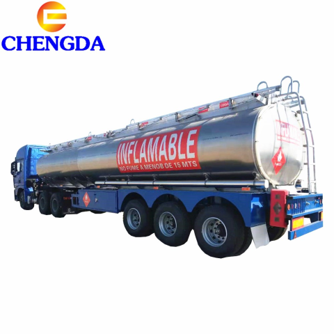 Made In China 3 Axles Aluminum Fuel Oil Tank Trailer