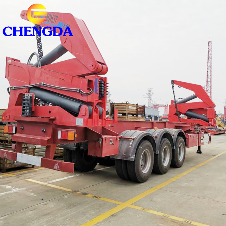 XCMG Crane Self Loading Sidelifte Container Trailer