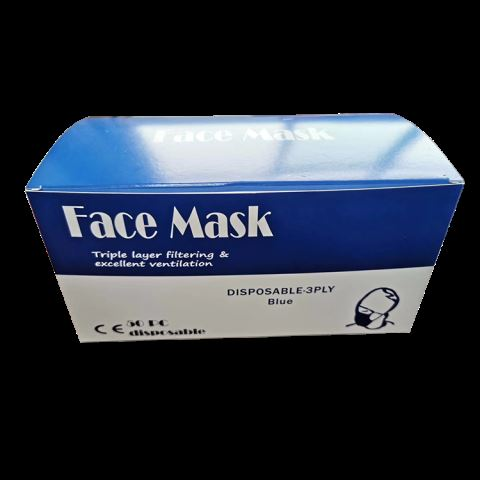 Disposable 3 Ply Non Woven Protective Face Mask Anti-virus Mask