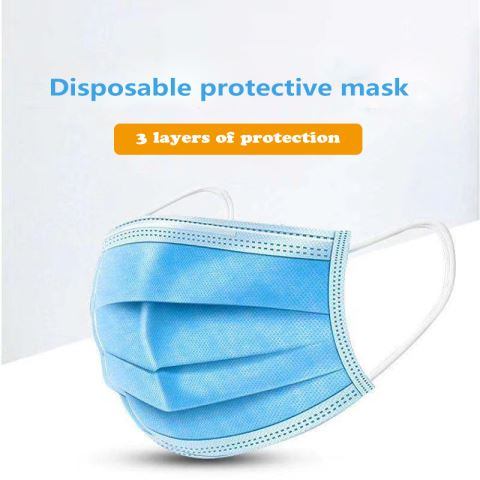 Earloop Disposable Non Woven 3 Ply Face Mask